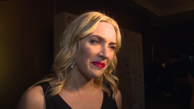 kate winslet on the awards, the oscar's, leonardo dicaprio and kenneth branagh on january 17, 2016 in london, england. - kate winslet stock videos & royalty-free footage
