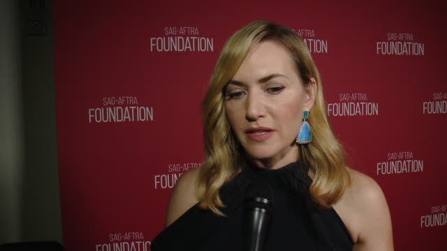 kate winslet on the event and honor at sag-aftra foundation patron of the arts awards in los angeles, ca 11/9/17 - kate winslet stock videos & royalty-free footage