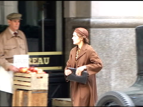 kate winslet on the set of 'mildred pierce' in manhattan at the celebrity sightings in new york at new york ny - kate winslet stock videos and b-roll footage