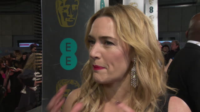 kate winslet on what she is wearing, on maybe not winning the award, her daughter helper her dress, backing leonardo dicaprio, michael fassbender... - kate winslet stock videos & royalty-free footage