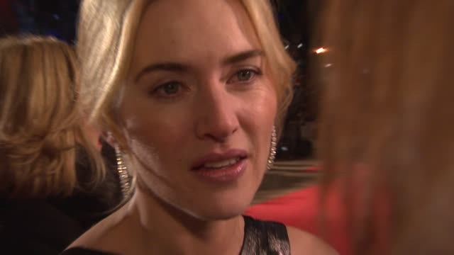 kate winslet on why this project was the time to work with leonardo again at the uk revolutionary road premiere at london . - kate winslet stock videos & royalty-free footage