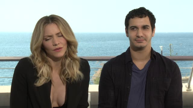 INTERVIEW Katharine McPhee and Elyes Gabel at 56th Monte Carlo TV Festival Day 2 on June 14 2016 in Monaco Monaco