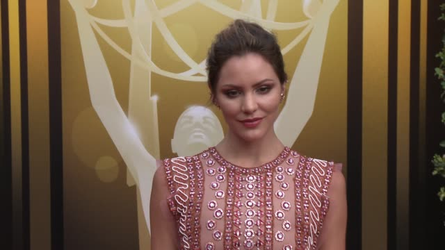 katharine mcphee at the 2015 creative arts emmy awards at microsoft theater on september 12 2015 in los angeles california - emmy awards stock-videos und b-roll-filmmaterial