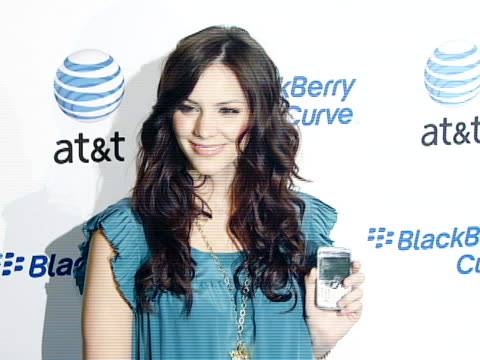 katharine mcphee at the blackberry curve from at&t u.s. launch party at beverly hills california. - curve stock videos & royalty-free footage