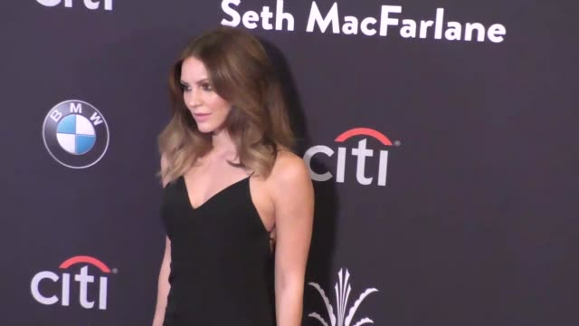 katharine mcphee at the grove christmas with seth macfarlane at the grove in los angeles at celebrity sightings in burbank on november 14, 2015 in... - the grove los angeles stock videos & royalty-free footage