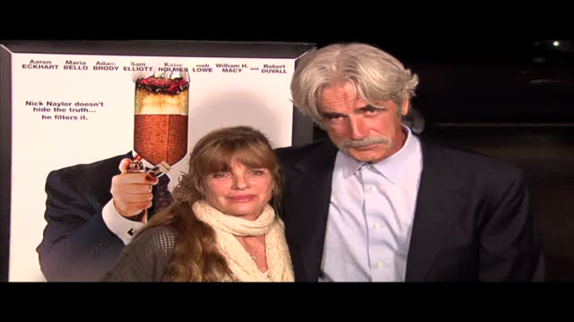 katharine ross and sam elliott at the thank you for smoking los angeles premiere at the dga theatre in los angeles, california on march 16, 2006. - sam elliott stock videos & royalty-free footage