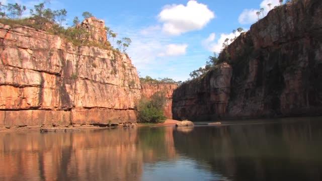 katherine gorge, northern territory, australia - northern territory australia stock videos & royalty-free footage
