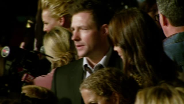 katherine heigl and ed burns at the '27 dresses' premiere at the mann village theatre in westwood california on january 7 2008 - regency village theater stock videos & royalty-free footage
