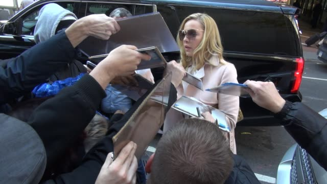 Katherine Heigl at the TODAY show signs and poses for photos with fans in Celebrity Sightings in New York