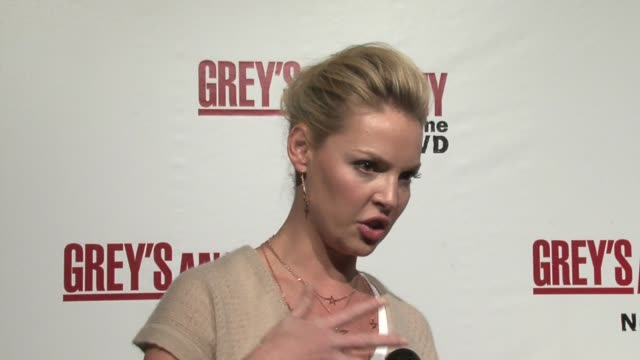 katherine heigl on the quirky storylines, using real pig intestines to operate on and stitch up, and what?s on the dvd at the grey's anatomy season... - human intestine stock videos & royalty-free footage