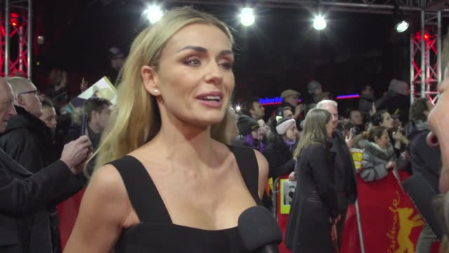 katherine jenkins singer on her part in 'minamata' and being directed by her husband in the minamata at friedrichstadt palast on february 21 2020 in... - film festival stock videos & royalty-free footage