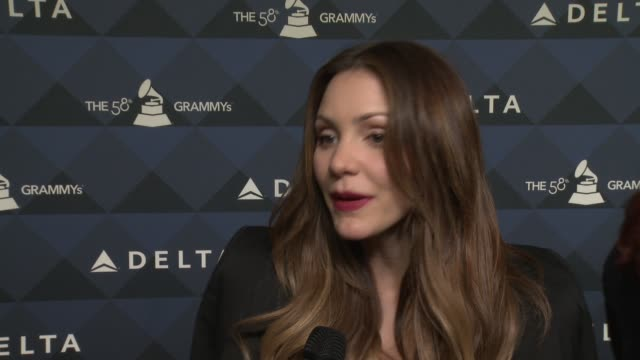 interview katherine mcphee on tonight's event on granmy performances on traveling on the finals american idol season and how she is getting involved... - american idol stock videos and b-roll footage