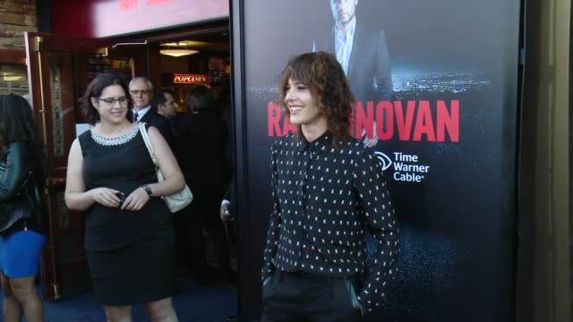 """katherine moennig at showtime and time warner cable celebrate season two of """"ray donovan"""" in los angeles, ca 7/9/14 - showtime video stock e b–roll"""