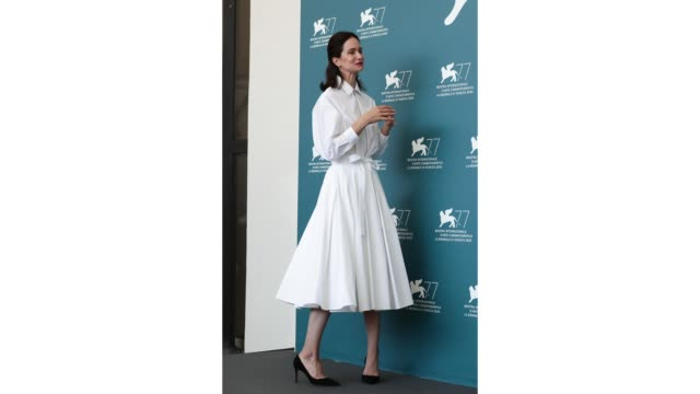 katherine waterston attends the photocall of the movie the world to come at the 77th venice film festival on september 06 2020 in venice italy - gif stock videos & royalty-free footage