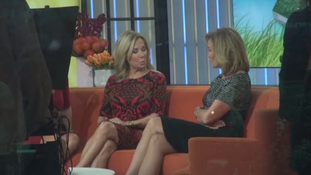 kathie lee gifford and jessica lange at the 'today' show studio at celebrity sightings in new york in new york, ny, on . - kathie lee gifford stock videos & royalty-free footage