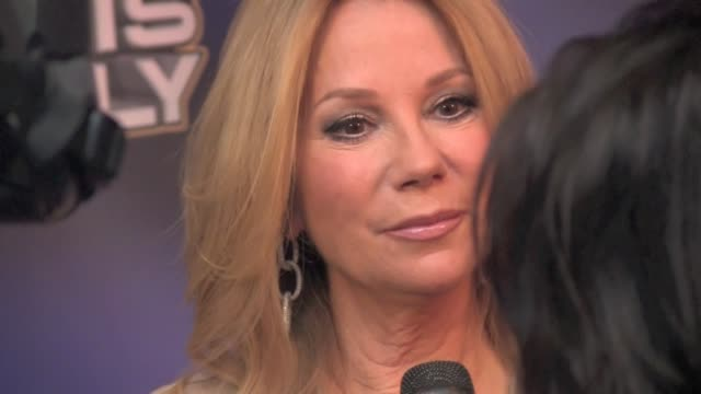 kathie lee gifford at live with regis & kelly in new york 11/18/11 - kathie lee gifford stock videos & royalty-free footage