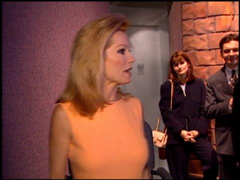 vídeos de stock e filmes b-roll de kathie lee gifford at the natpe convention on january 20, 1998. - natpe convention