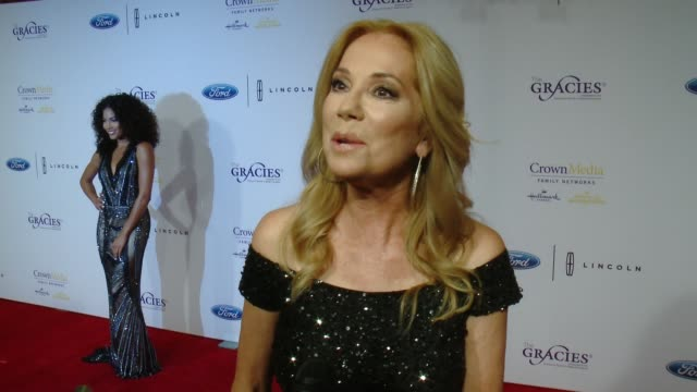 kathie lee gifford on what winning a gracie award means to her, how women in media have inspired her and who her wonder woman is at the 41st annual... - kathie lee gifford stock videos & royalty-free footage