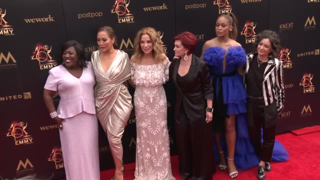 kathie lee gifford, sheryl underwood, carrie ann inaba, sharon osbourne, eve and sara gilbert at the 2019 daytime emmy awards at pasadena civic... - kathie lee gifford stock videos & royalty-free footage