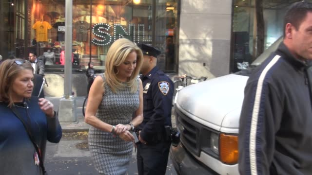 Kathie Lee Gifford walking back into the 'TODAY' show Celebrity Sightings on 11/4/15 in New York City New York