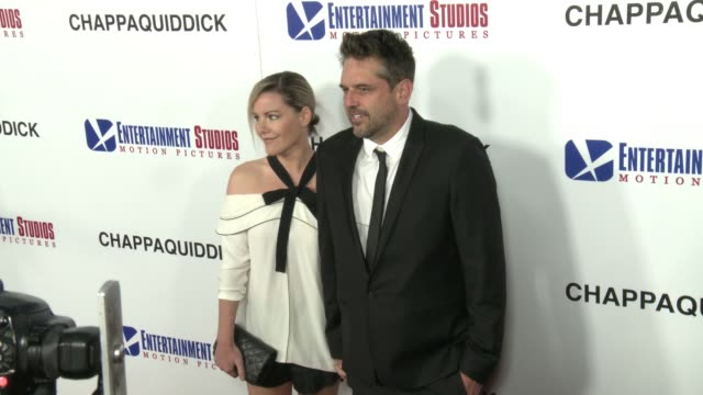kathleen robertson and chris cowles at the chappaquiddick premiere at samuel goldwyn theater on march 28 2018 in beverly hills california - samuel goldwyn theater stock videos & royalty-free footage