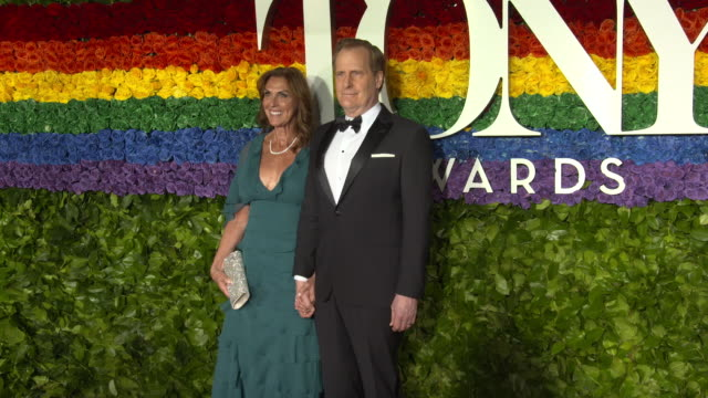 kathleen rosemary treado and jeff daniels at the 73rd annual tony awards arrivals at radio city music hall on june 09 2019 in new york city - annual tony awards stock videos & royalty-free footage