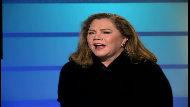 kathleen turner stars in west end show england london gir kathleen turner live studio interview sot i read it at university when i was about 20/ i... - broadway show stock videos and b-roll footage