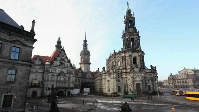 """katholische hofkirche"" in dresden - germany - hofkirche stock videos & royalty-free footage"