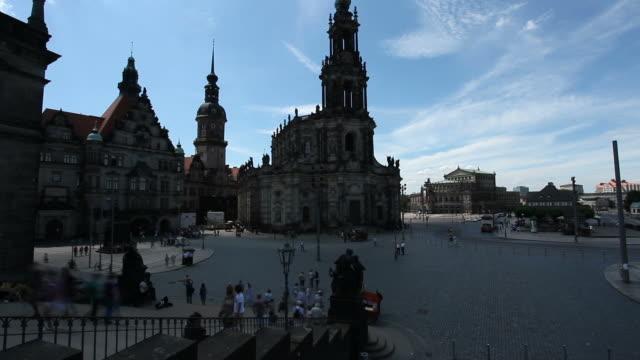 katholische hofkirche in dresden - germany - hofkirche stock videos & royalty-free footage