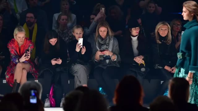 berlin germany january 15 kathrin gelinsky watches the sportalm show during berlin fashion week autumn/winter 2020 at kraftwerk mitte on january 15... - gif stock videos and b-roll footage