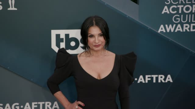 kathrine narducci at the 26th annual screen actors guild awards - arrivals at the shrine auditorium on january 19, 2020 in los angeles, california. - screen actors guild awards stock videos & royalty-free footage