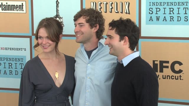 kathryn aselton mark duplass and jay duplass at the the 21st annual ifp independent spirit awards in santa monica california on march 4 2006 - ifp independent spirit awards stock videos and b-roll footage