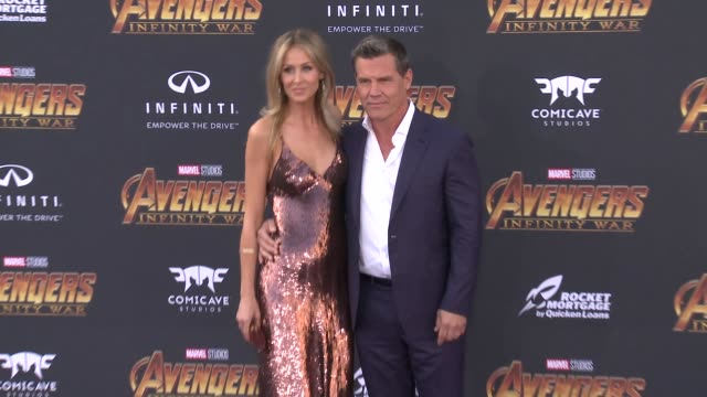 Kathryn Boyd and Josh Brolin at the Avengers Infinity War World Premiere on April 23 2018 in Hollywood California