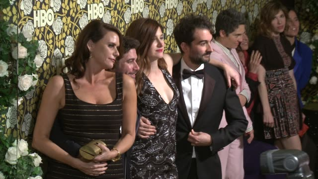 kathryn hahn and jay duplass at hbo's post 2016 golden globe awards party at circa 55 restaurant on january 10, 2016 in los angeles, california. - キャスリン ハーン点の映像素材/bロール