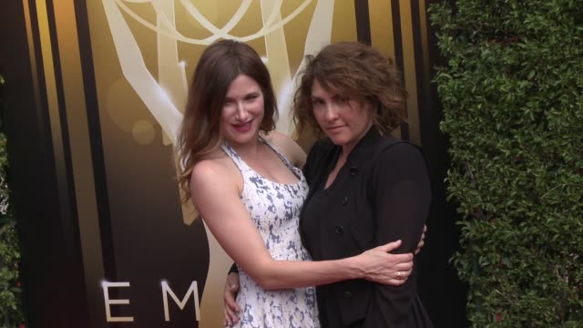 kathryn hahn and jill soloway at the 2015 creative arts emmy awards at microsoft theater on september 12 2015 in los angeles california - emmy awards stock-videos und b-roll-filmmaterial
