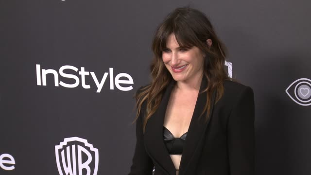 kathryn hahn at 18th annual instyle and warner bros. pictures golden globes after-party at the beverly hilton hotel on january 08, 2017 in beverly... - キャスリン ハーン点の映像素材/bロール
