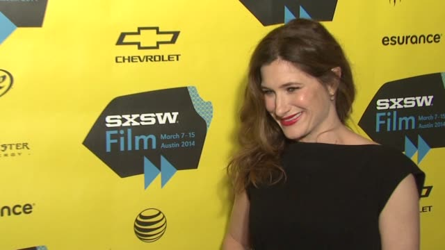 """kathryn hahn at """"bad words"""" red carpet screening and party at sxsw presented by focus features at the topher theatre on march 07, 2014 in austin,... - キャスリン ハーン点の映像素材/bロール"""