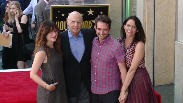 kathryn hahn, jeffrey tambor, jay duplass, amy landecker, and more at the jeffrey tambor star on the hollywood walk of fame on august 8, 2017 in... - jeffrey tambor stock videos & royalty-free footage