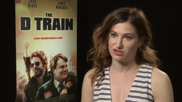 """kathryn hahn on her character, working with the other cast members, her stance on reunions, working with jack black at the """"the d train"""" los angeles... - キャスリン ハーン点の映像素材/bロール"""