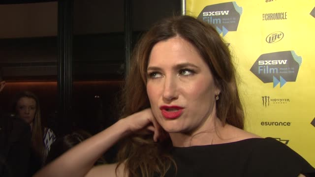 """kathryn hahn on premiering at sxsw in austin, working with jason bateman and the film at """"bad words"""" red carpet screening and party at sxsw presented... - キャスリン ハーン点の映像素材/bロール"""