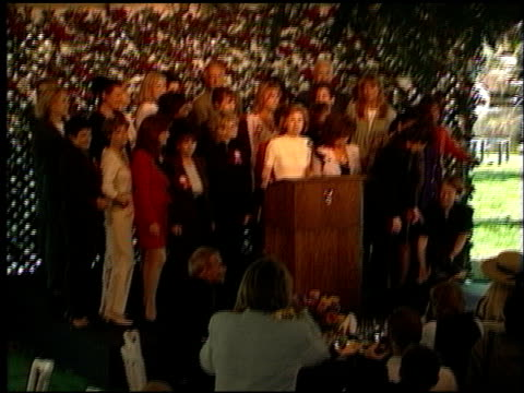 kathryn leigh scott at the 72nd birthday party for hugh hefner at playboy mansion in los angeles california on april 9 1998 - playboy mansion stock videos & royalty-free footage