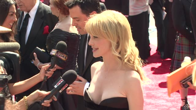 kathryn morris at the 2009 primetime creative arts emmy awards at los angeles ca - kathryn morris stock videos & royalty-free footage