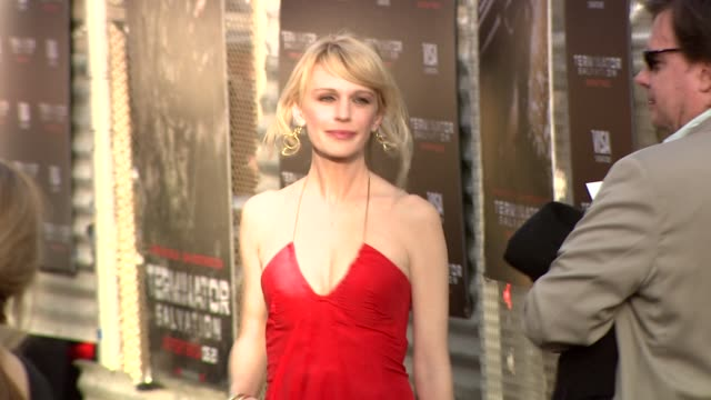 kathryn morris at the 'terminator salvation' premiere at hollywood ca - kathryn morris stock videos & royalty-free footage