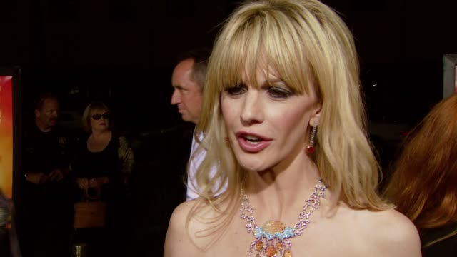 kathryn morris discusses her role and the experience of working on the film at the 'resurrecting the champ' premiere at samuel goldwyn theater in... - kathryn morris stock videos & royalty-free footage