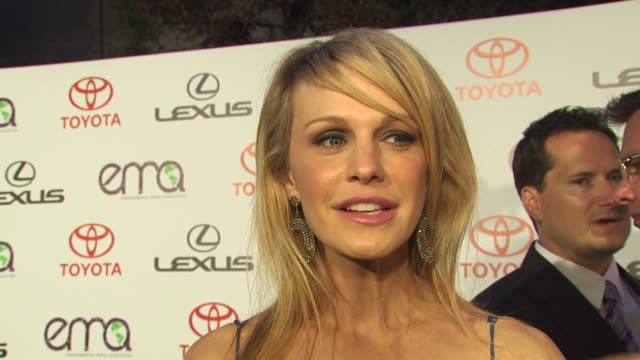 kathryn morris on being here on her environmental tips on composting at the environmental media association celebrates 2010 ema awards at burbank ca - kathryn morris stock videos & royalty-free footage