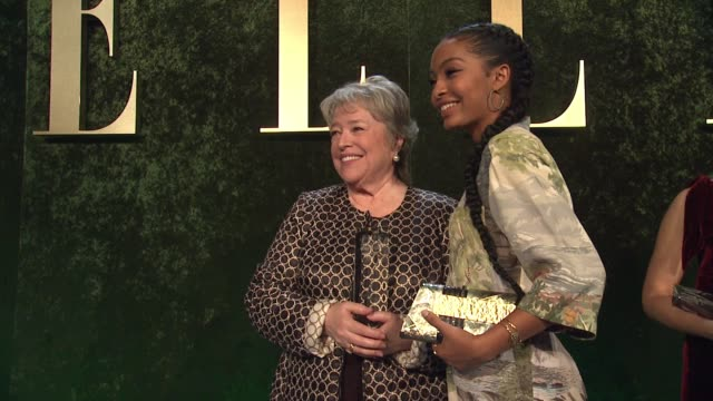 Kathy Bates and Yara Shahidi at 23rd Annual Elle Women In Hollywood Celebration at Four Seasons Hotel Los Angeles at Beverly Hills on October 24 2016...