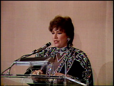 kathy bates at the 1991 golden globe awards at the beverly hilton in beverly hills, california on january 19, 1991. - 1991 stock videos & royalty-free footage