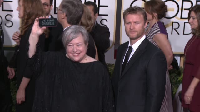 Kathy Bates at the 72nd Annual Golden Globe Awards Arrivals at The Beverly Hilton Hotel on January 11 2015 in Beverly Hills California