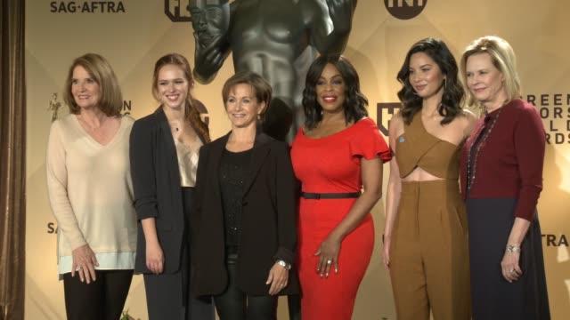 Kathy Connell Elizabeth McLaughlin Gabrielle Carteris Niecy Nash Olivia Munn JoBeth Williams at the 24th Annual Screen Actors Guild Awards...