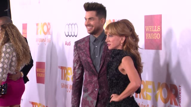 Kathy Griffin Adam Lambert at TrevorLIVE Los Angeles Benefit Celebrating The Trevor Project's 15th Anniversary in Los Angeles CA